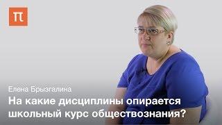 Проблема преподавания обществознания в школе — Елена Брызгалина