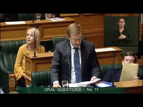 Question 11 - Dr David Clark to the Minister of Health