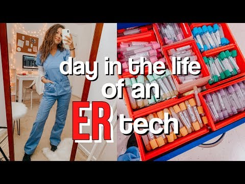Day in the life of an ER tech | 12 hour shift