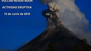 Actividad superficial del volcán El Reventador