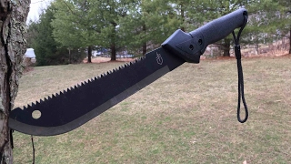 gerber Gator Machete Jr. unboxing and testing