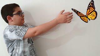 Buğra ile Beratın Kelebek Mücadelesi. Butterfly Story For Kids