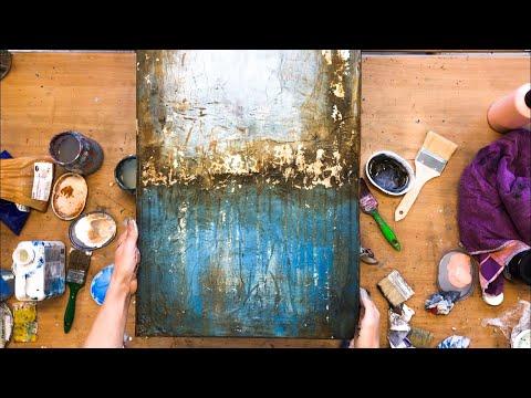 Abstraktes Bild In Acryl, Mit Folie, Struktur, Anleitung, Auch Für Anfänger