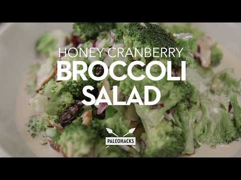 Broccoli Salad with Honey Toasted Walnuts