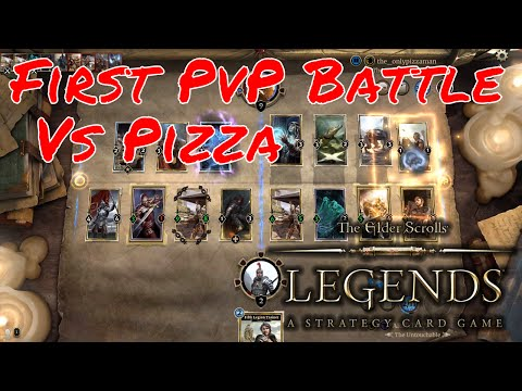 First PvP Battle In The Elder Scrolls Legends against Pizza w/ commentary - ES Legends Battle #1