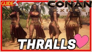 Conan Exiles PS4 XB1/PC - Thralls Explained Every Thrall Type! What One's Are Best!