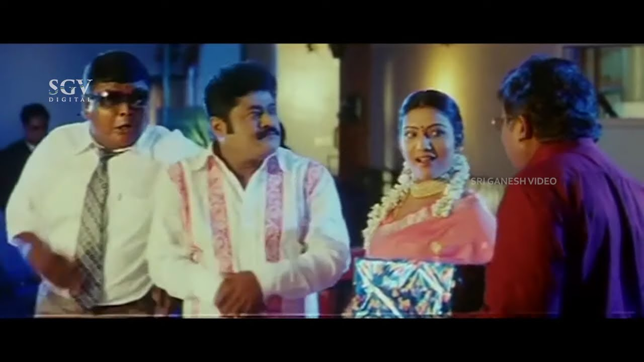 Call Girl Acts As Jaggesh's Wife in Party   Comedy Scene   Sharan   Kodagana Koli Nungittha Movie