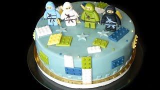 Торт Лего Ниндзяго. Как сделать Лего без молда. LEGO CAKE - HOW TO MAKE A LEGO CAKE