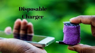 Disposable Phone Charger ! DIY Power Bank Make a Emergency Mobile Phone Charger  Life hack