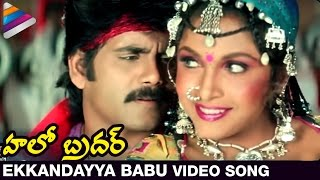 Hello Brother Movie Songs | Ekkandayya Babu Video Song | Nagarjuna | Ramya Krishna | Soundarya