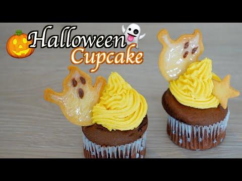 ハロウィンゴーストカップケーキ-👻-萬聖節小鬼紙杯蛋糕-👻-halloween-ghost-cupcakes