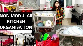 #kitchen, kitchen organization, non modular, Small Indian Non Modular Kitchen Tour  Organisation