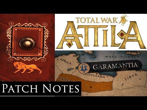 Total War Attila : Garamantian Update Patch Notes
