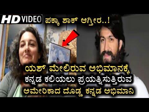 Breaking news   An American yash fan trying to learn Kannada   rocking star   yash fans