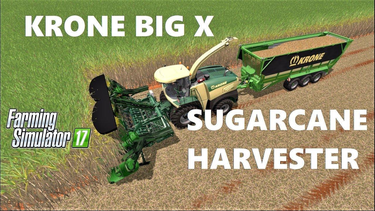 Farming Simulator 17 | KRONE BIG X SUGARCANE HARVESTER MOD!!! INTERESTING #1