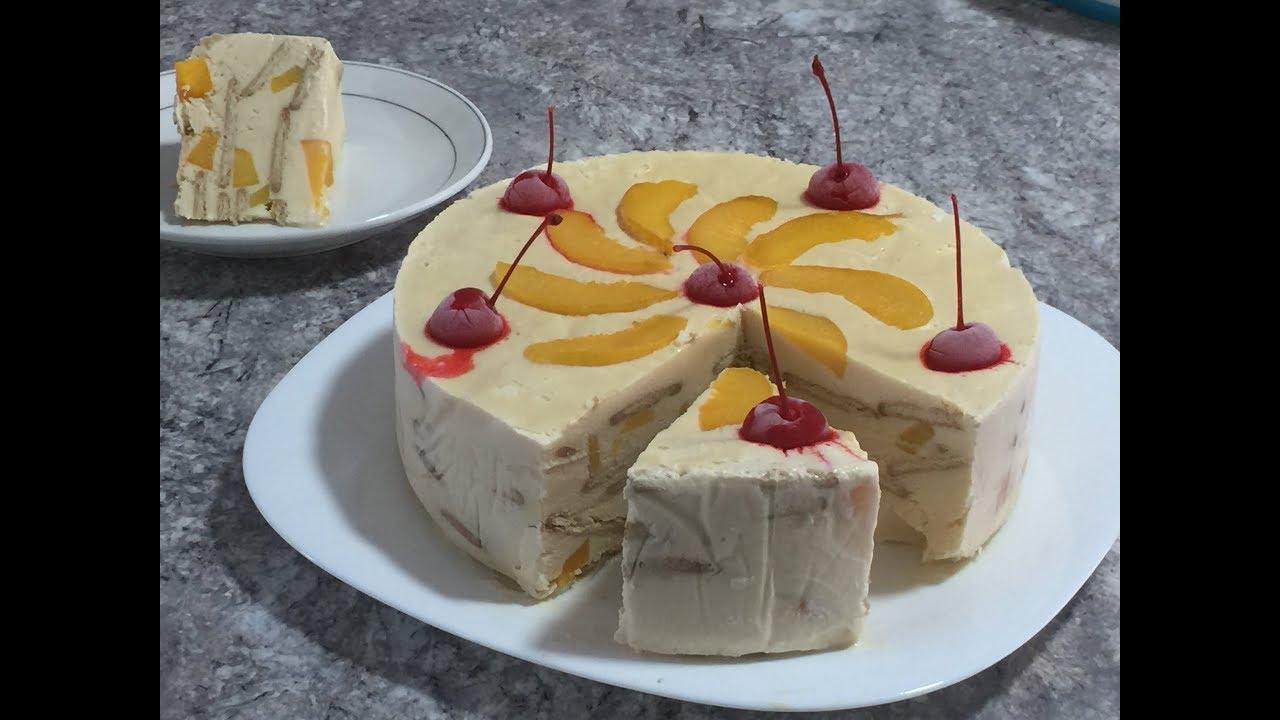 receta de pastel con galletas marias