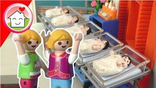 Playmobil Film Familie Hauser - Die Geburt von Lisas Geschwisterchen - Geburt der Fünflinge