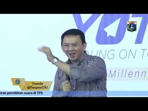Pididato Gub DKI Jakarta Terbaru 2016, Pdato Dasyat AHOK Saat Pembicara Acara Young on Top (YOT) NEW