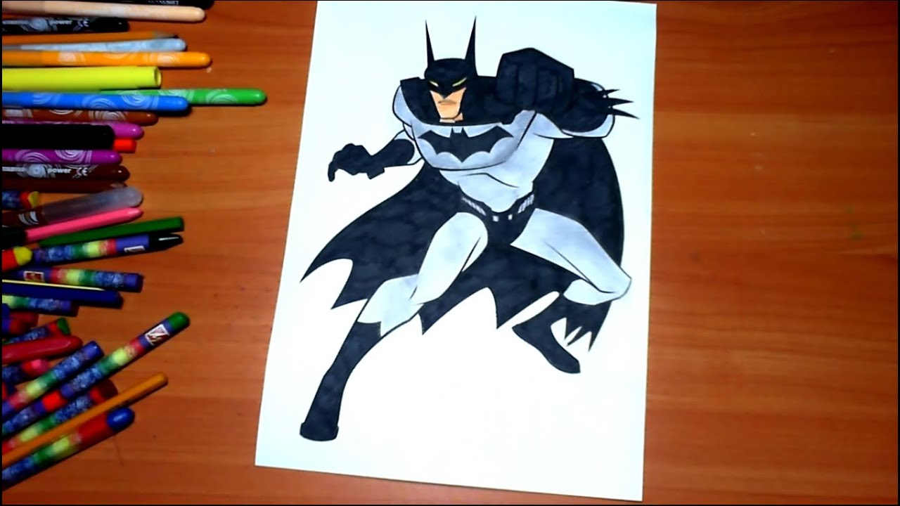 batman new coloring pages for kids colors superheroes coloring colored markers felt pens pencils