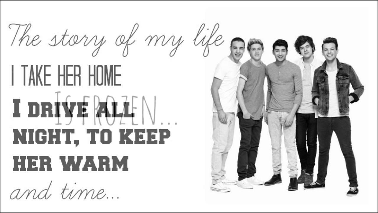 One Direction Story Of My Life Lyrics Pinterest - MVlC