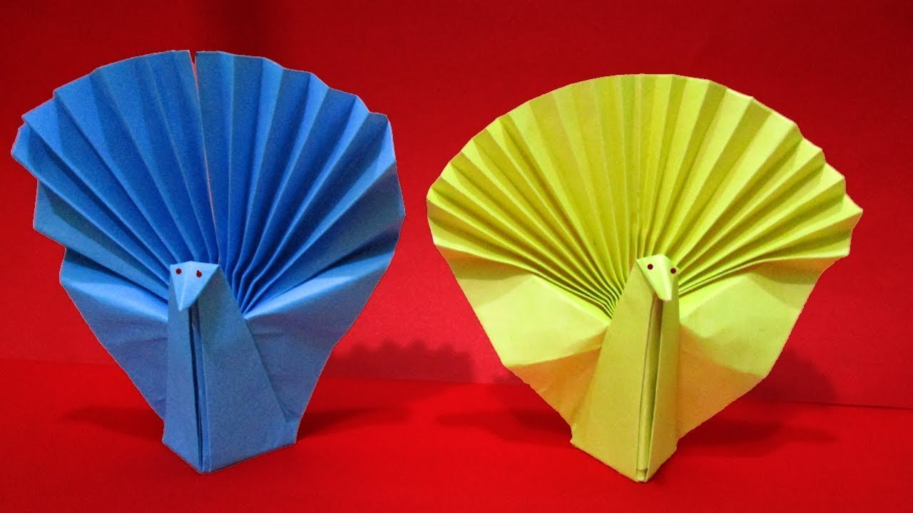 How To Make Origami Peacock Origami Animals Easy Paper