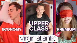 Virgin Atlantic's A350 in all three classes | Upper Class vs Premium vs Economy