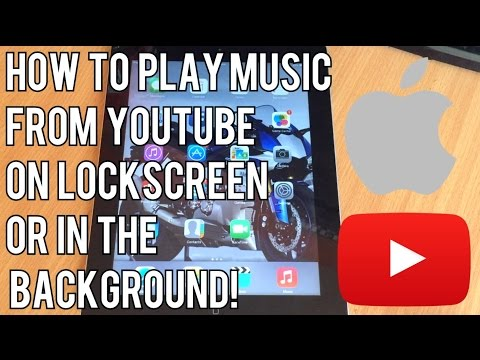 How To Play Music From YouTube On Lock Screen Or In The Background! (IPhone Tricks)