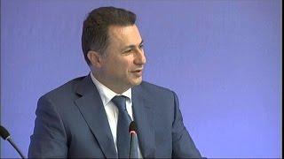 A1 Report - Gruevski: Greqia shkak për shtyrjen  e anëtarësimit tonë në NATO