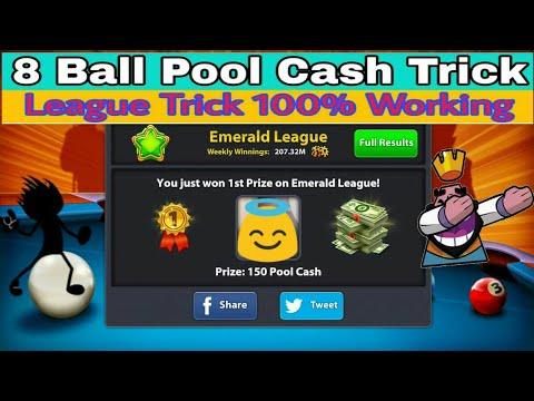 8 Ball Pool Cash Trick ∥ League Trick ∥ 100% Working