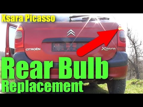 How to replace Rear Light Bulb Citroen Xsara Picasso Bulb Test