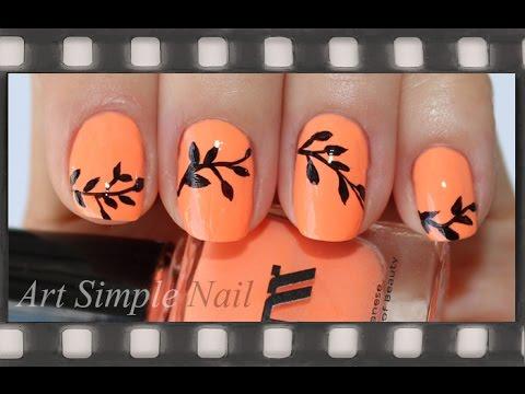 Осенний маникюр с рисунком - фото идей дизайна ногтей
