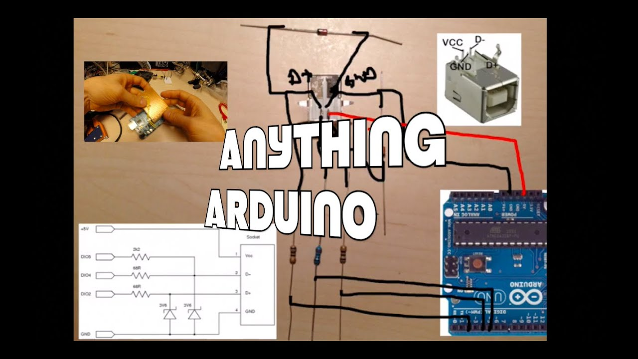 Arduino uno as a usb keyboard hid device anything