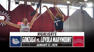 No. 1 Gonzaga vs. Loyola Marymount Basketball Highlights (2019-20) | Stadium