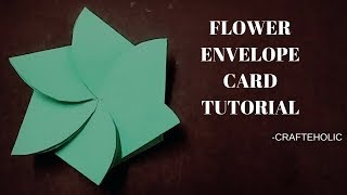 flower envelop card \diy card for scrapbook\handmade birthday card ideas