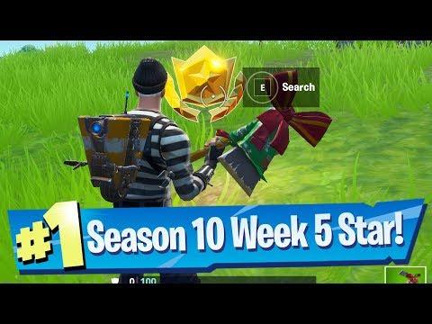 Fortnite Season 10 Week 5 Secret Battle Pass Star Location