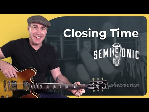Closing Time - Semisonic - Easy Beginner Song Guitar Lesson Tutorial (BS-422)
