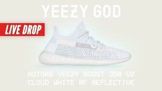 Adidas YEEZY Boost 350 V2 Cloud White RF REFLECTIVE LIVE STREAM How to Buy Yeezy Supply Release Drop