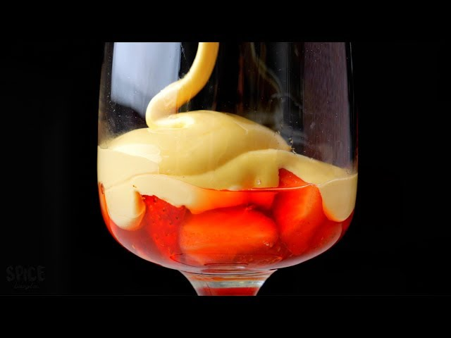 Zabaglione | Italian Custard Recipe (Without alcohol)