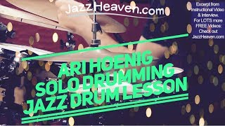 *Ari Hoenig Solo* Jazz Drumming Perfection ;) Arirang JazzHeaven.com Instructional Video Excerpt