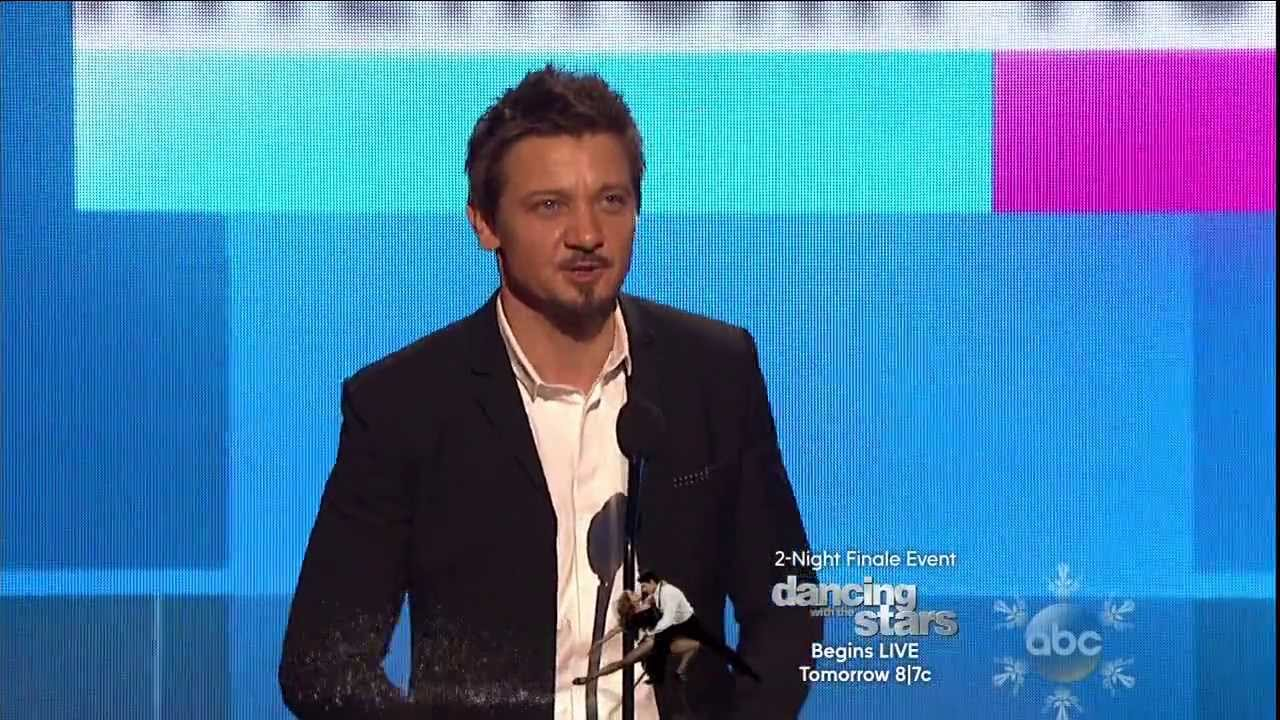 Jeremy Renner speaks onstage during the 2013 American Music Awards