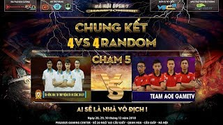 AoE 2019 - Thái Bình vs GameTV -  Hồng Anh quyết tâm hạ gục Chim Sẻ đi nắng
