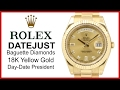 ▶ Rolex Day-Date II, Yellow Gold President, Champagne Diamond Dial, Fluted Bezel, REVIEW - 218238
