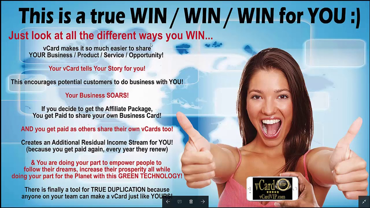 Biggest Breakthrough in Network Marketing in a decade! (vCard VIP ...