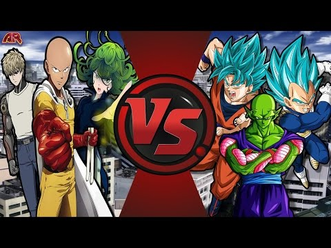 ONE PUNCH MAN vs DRAGON BALL Z! (Goku vs Saitama 2) Cartoon Fight Club Episode 178