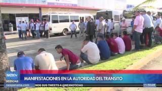 Transportistas de la ciudad y el interior protestan en la ATTT