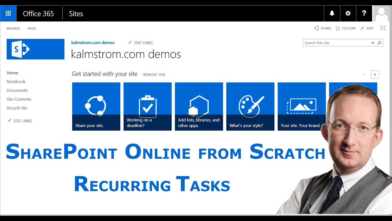 Recurring tasks in SharePoint - a SharePoint Online from