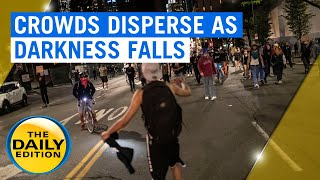 American riots update: Crowds of protesters have dispersed as night falls in the US | 7NEWS