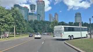 Driving Downtown - Niagara Falls 4K - Canada