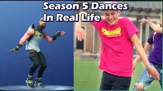 FORTNITE SEASON 5 DANCES IN REAL LIFE