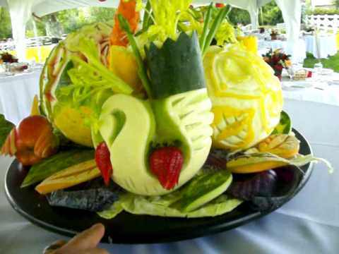 Wedding Fruit Tray Carving By Tuz
